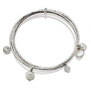 Pearl Sterling Silver Bangle