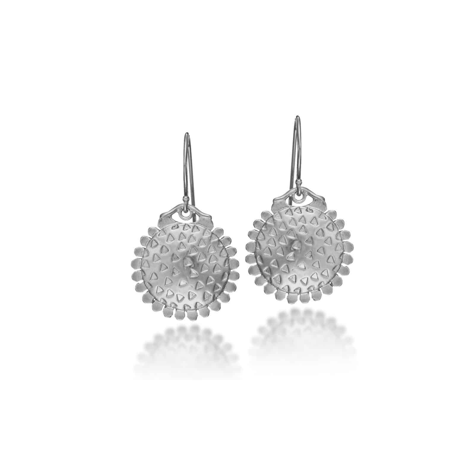Sunflower Silver Earrings