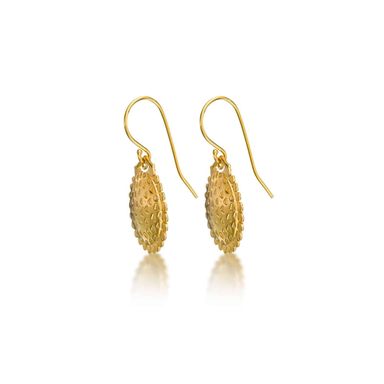 Sunflower gold plated Earrings