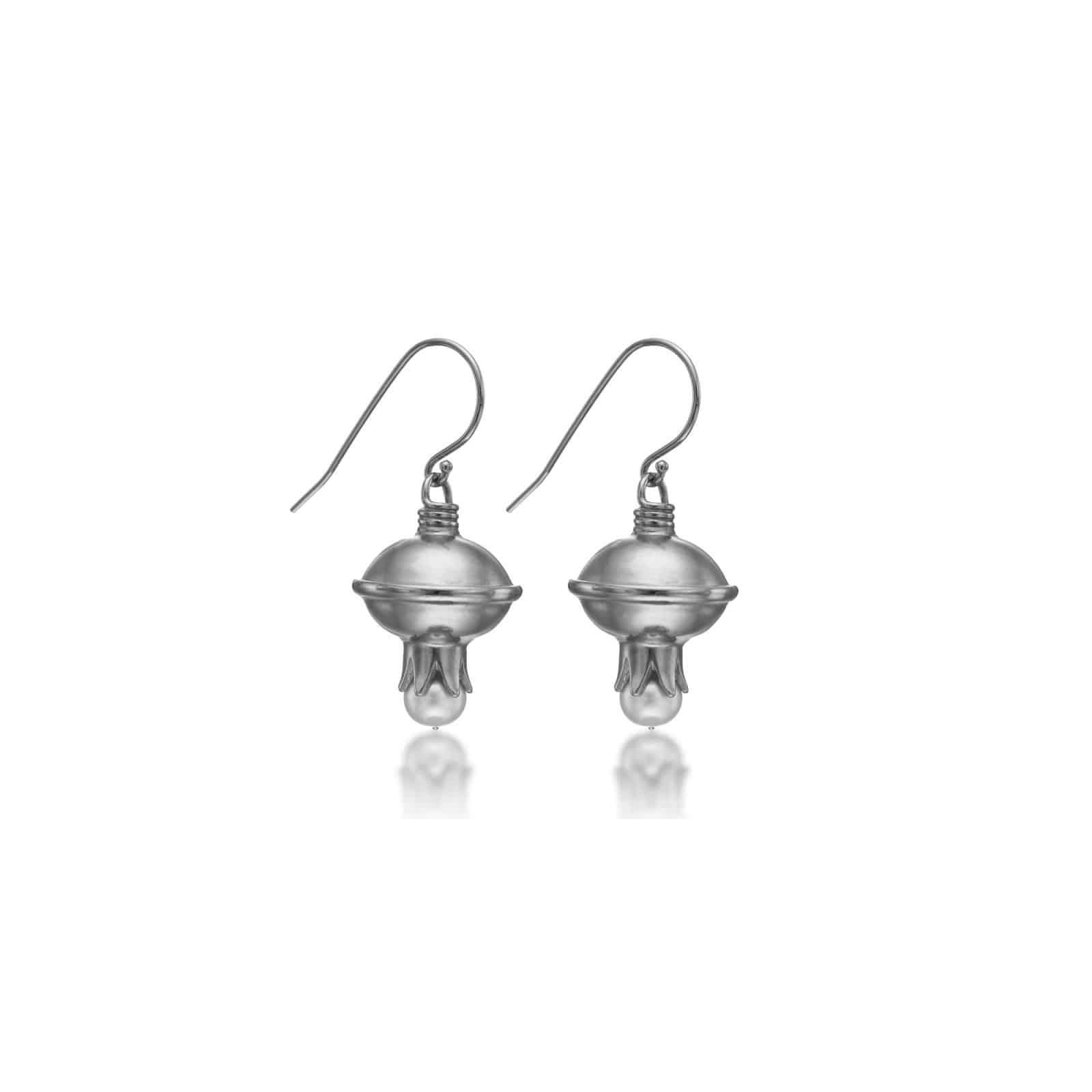 Pomegranate silver Earrings