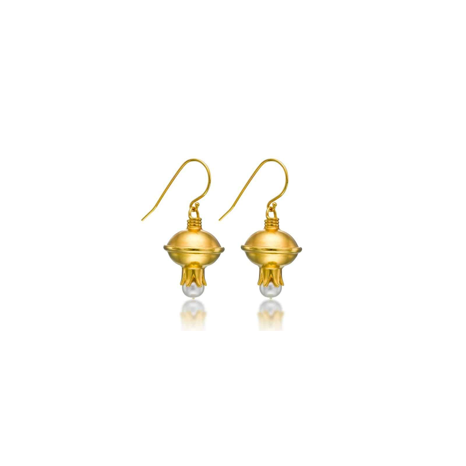 Pomegranate gold plated Earrings