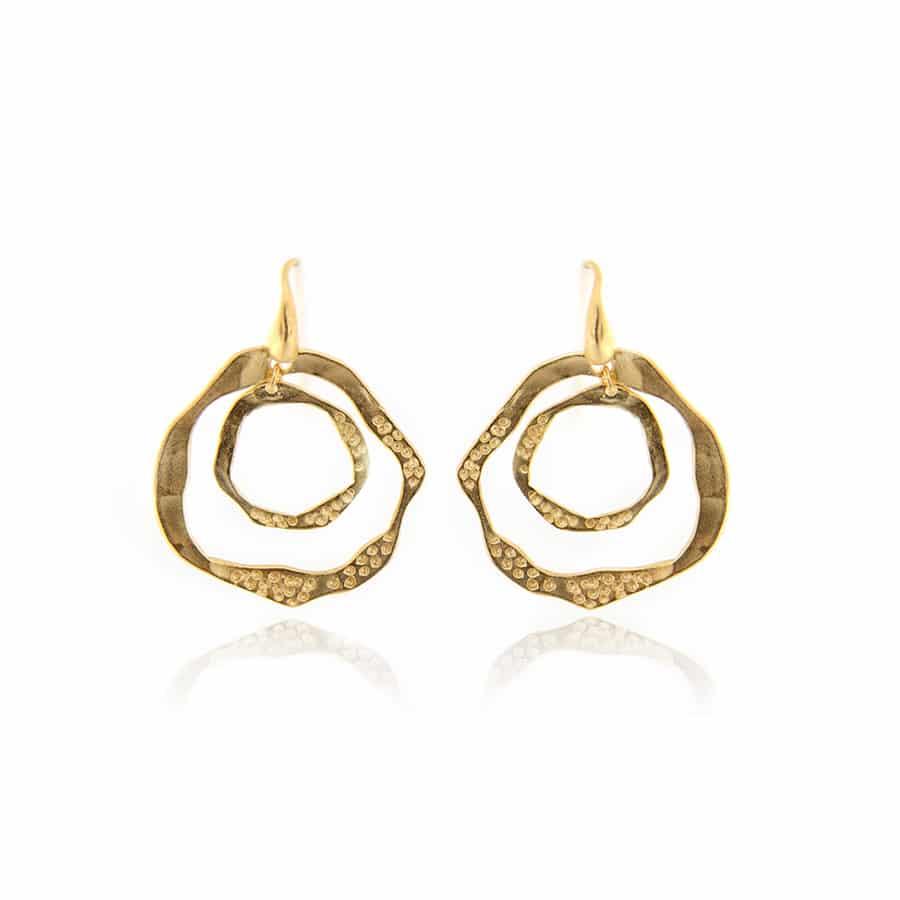 Gold Plated Hoop Sterling Silver Earrings