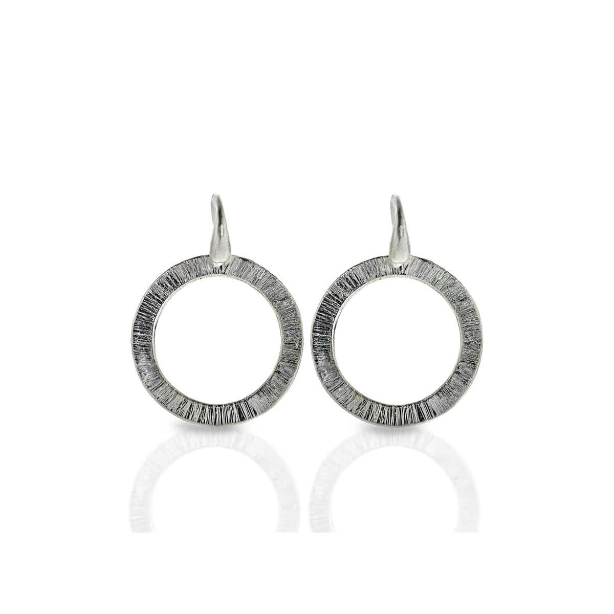 Hammered hoop silver Earrings