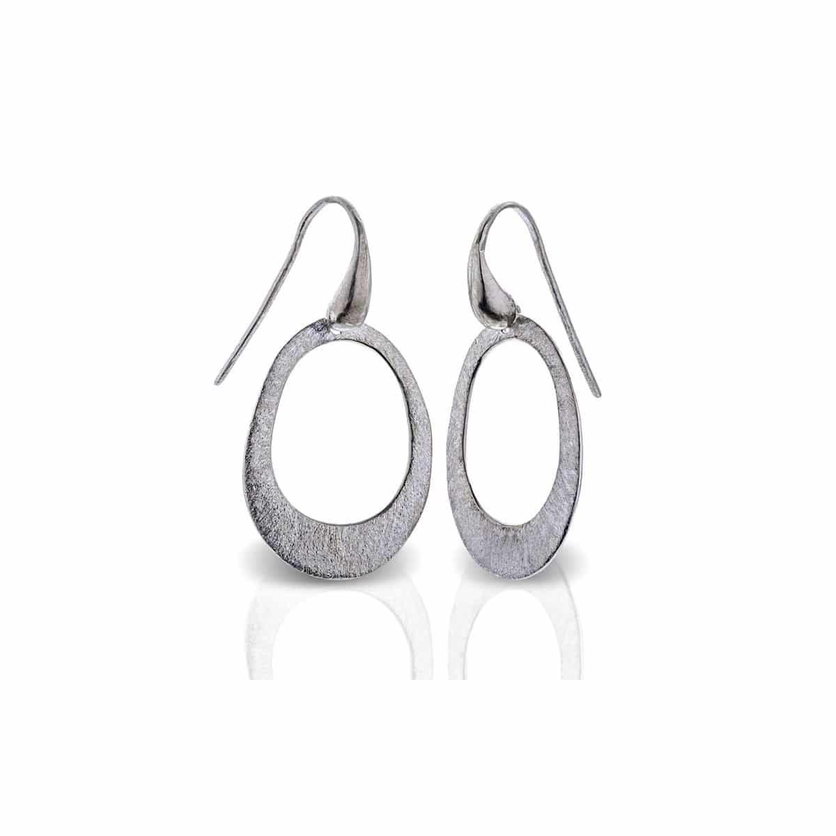 Silver sterling hoop earrings