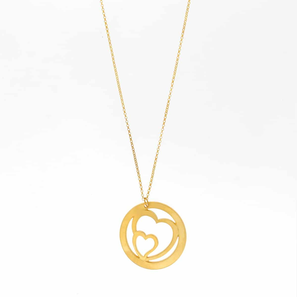 Heart shaped gold plated silver Necklace