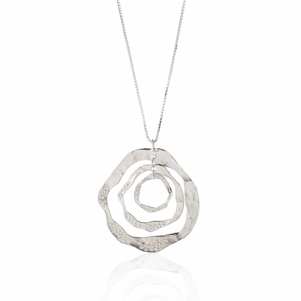 Hoop Pendant Sterling Silver necklace