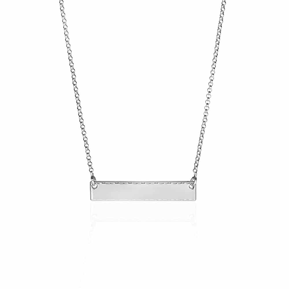 Bar Pendant Sterling Silver Necklace