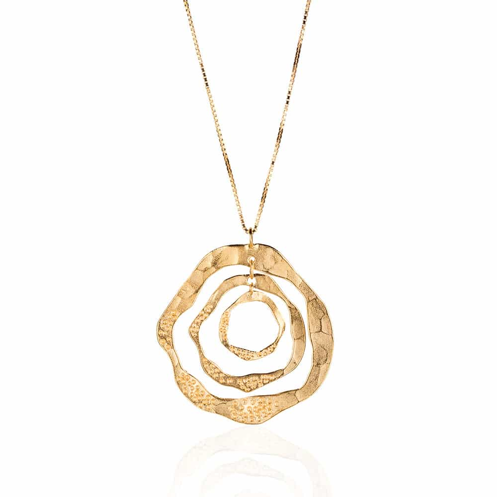 Gold Plated Hoop Sterling Silver Necklace