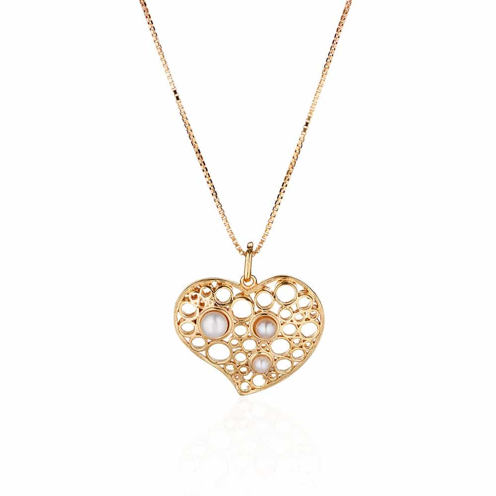Heart Gold Plated Pendant Necklace