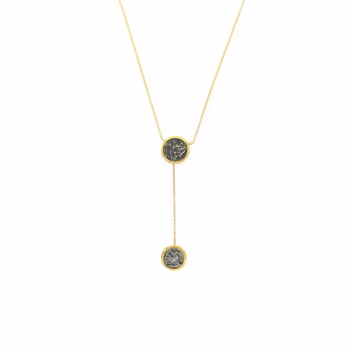 Ancient Coin gold plated silver Necklace
