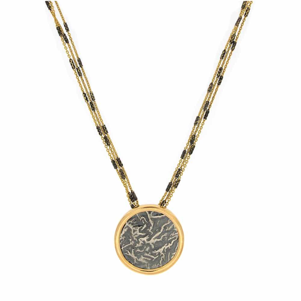 Collar Chapado en Oro con Monedas Antiguas