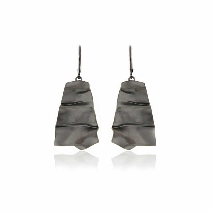 Black plated Earrings