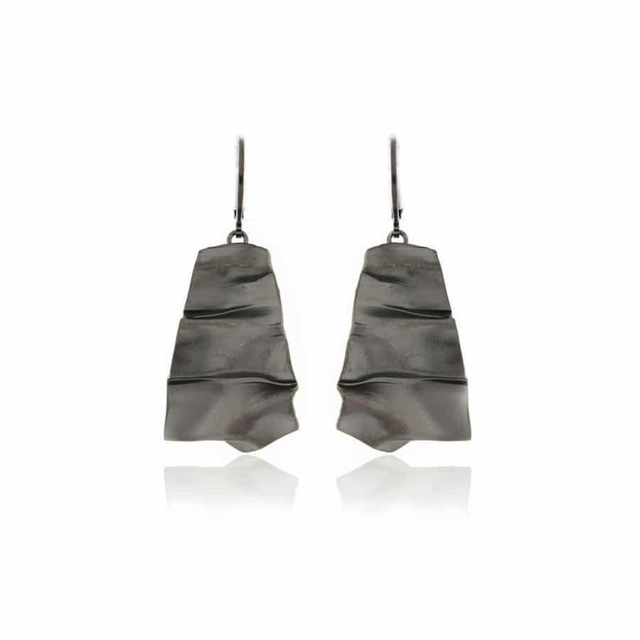 Black plated Earrings