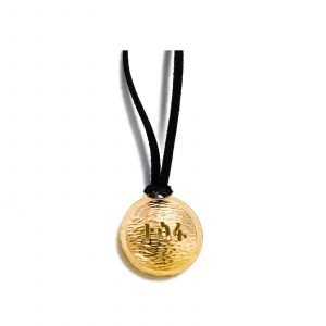 Gold Hope Pendant On Suede Cord