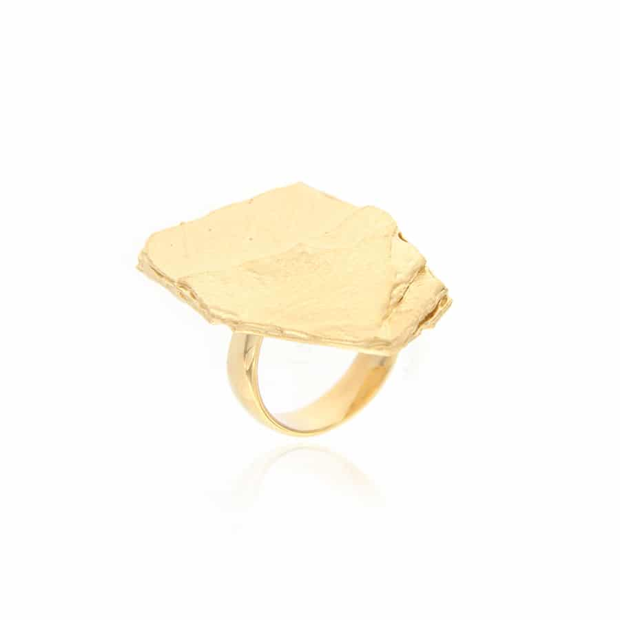 Gold plated silver Ring
