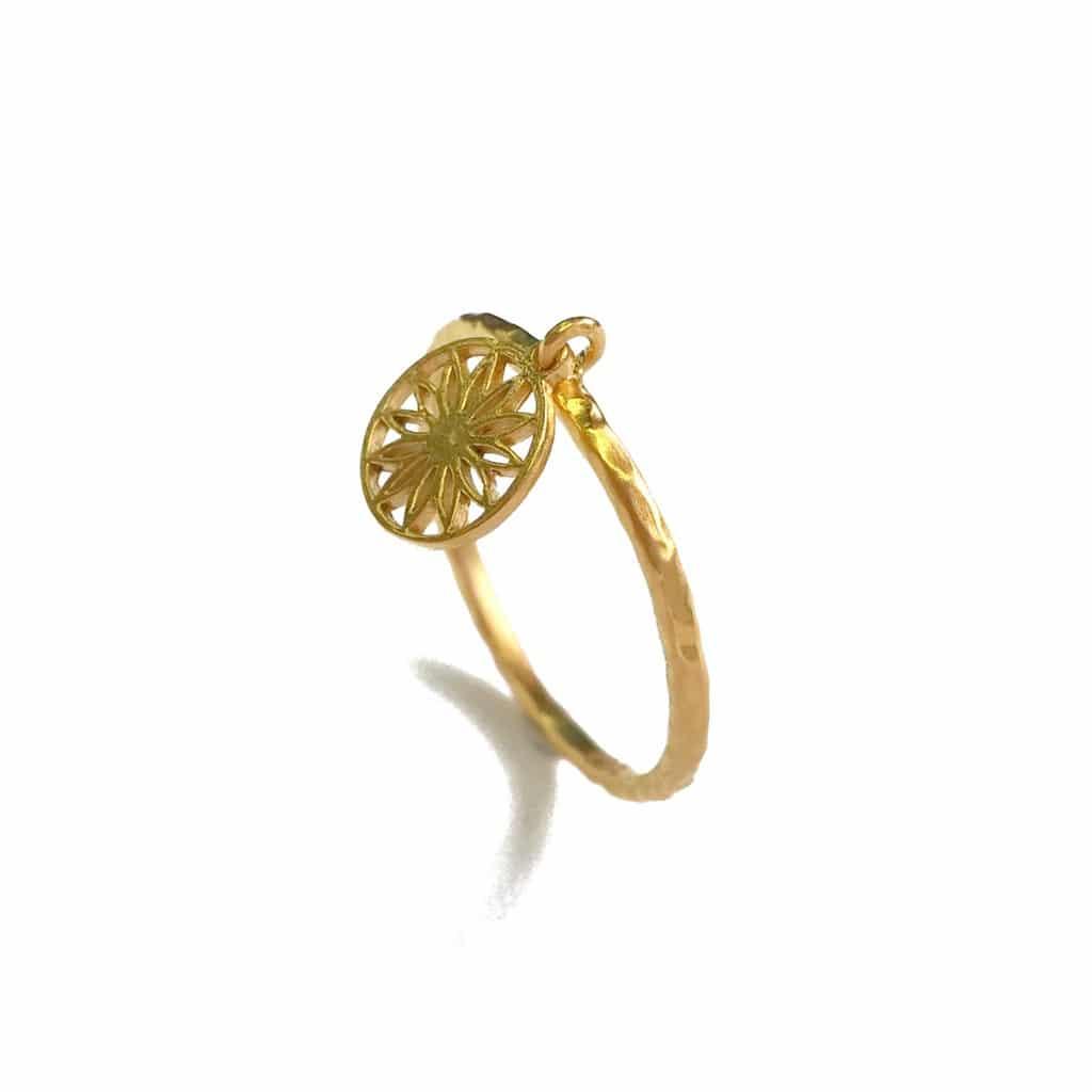 MANDALA gold plated Ring