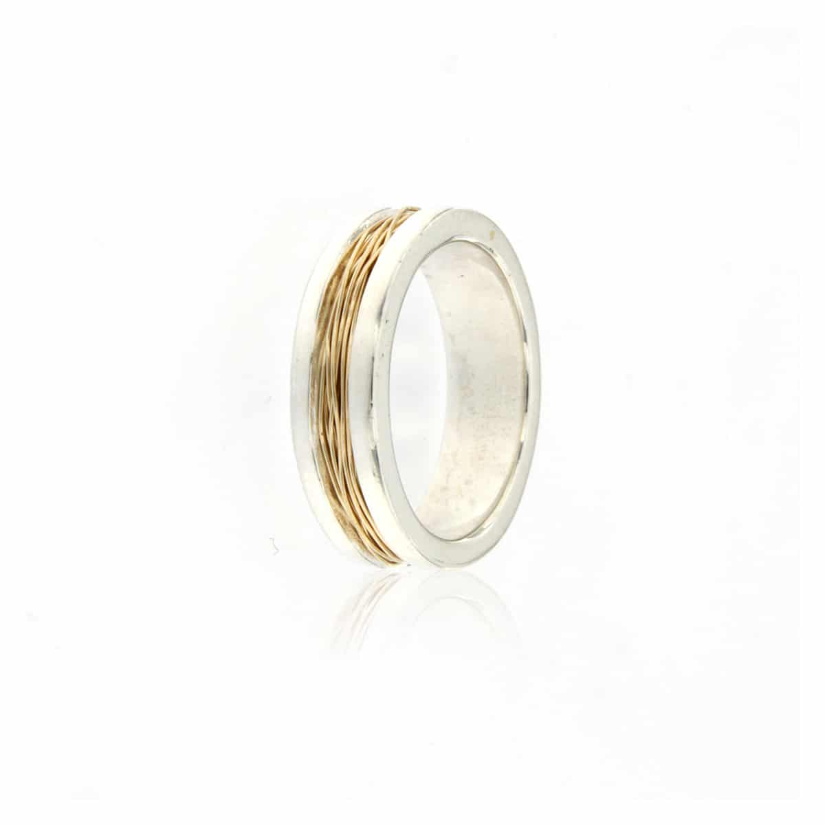 Gold Plated & Silver Ring