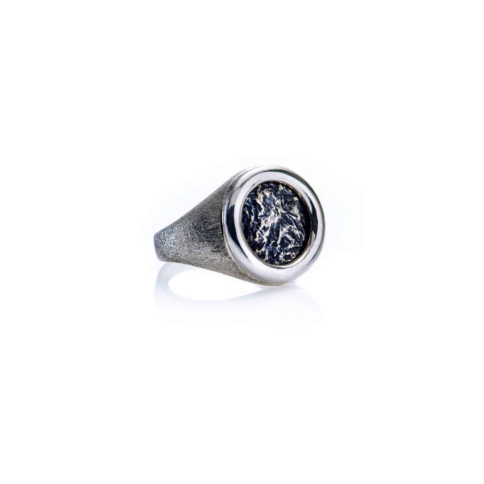 Ancient Coin Round Ring