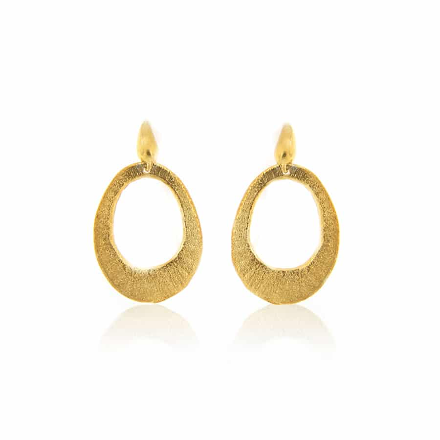 Gold Plated Hoop Sterling Silver Earrings