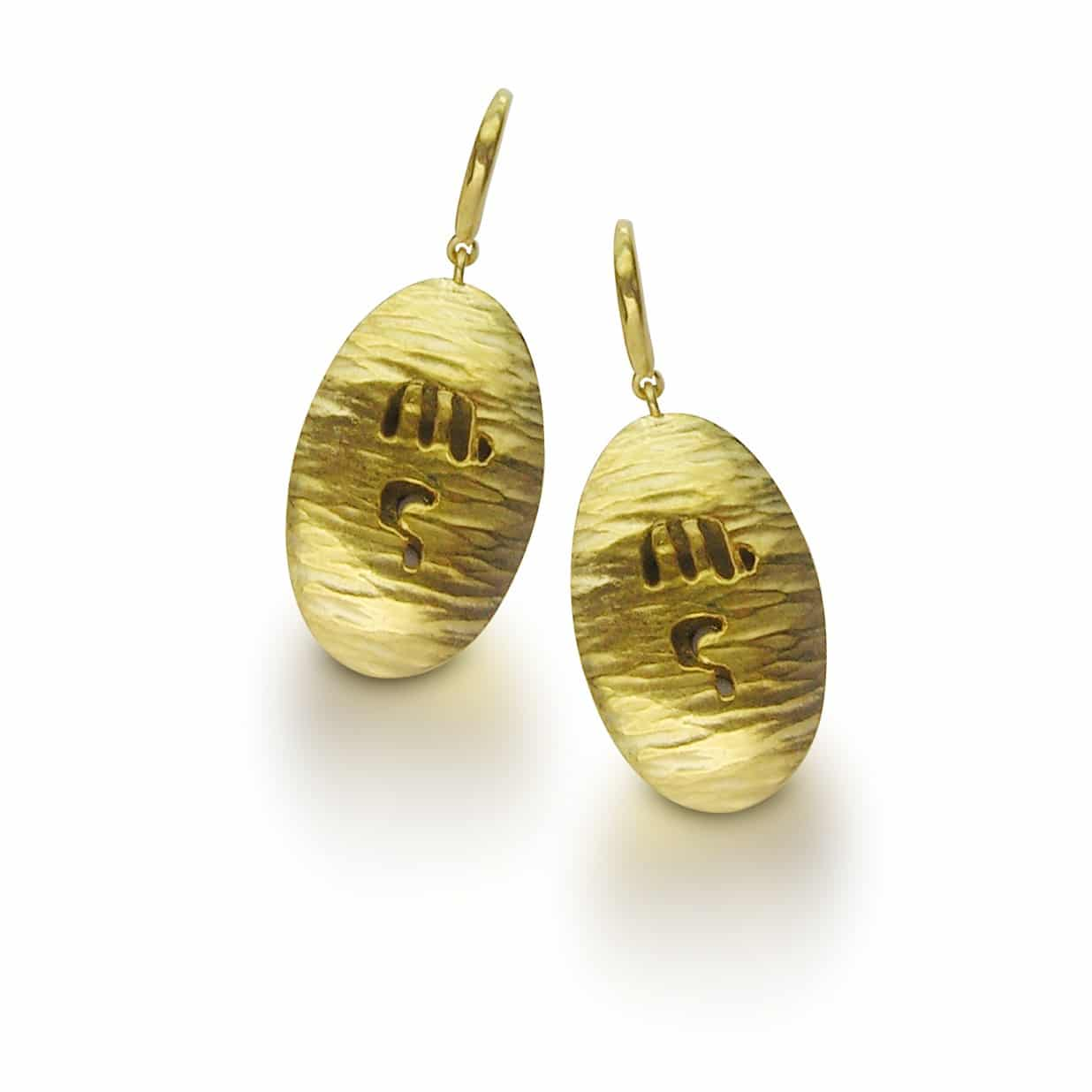 24K Gold-Plated on 925 Sterling Silver earrings