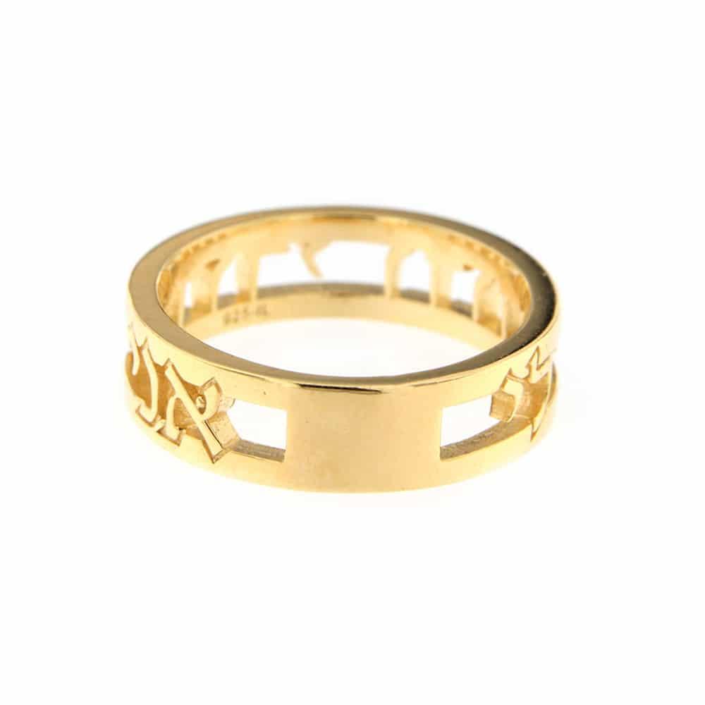 Ani Ledodi Gold Plated Silver Ring