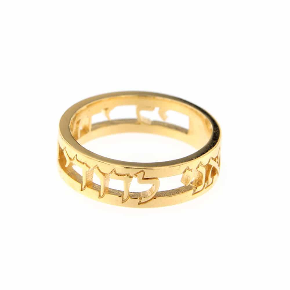 ANI LE'DODDI Gold Plated Silver Ring
