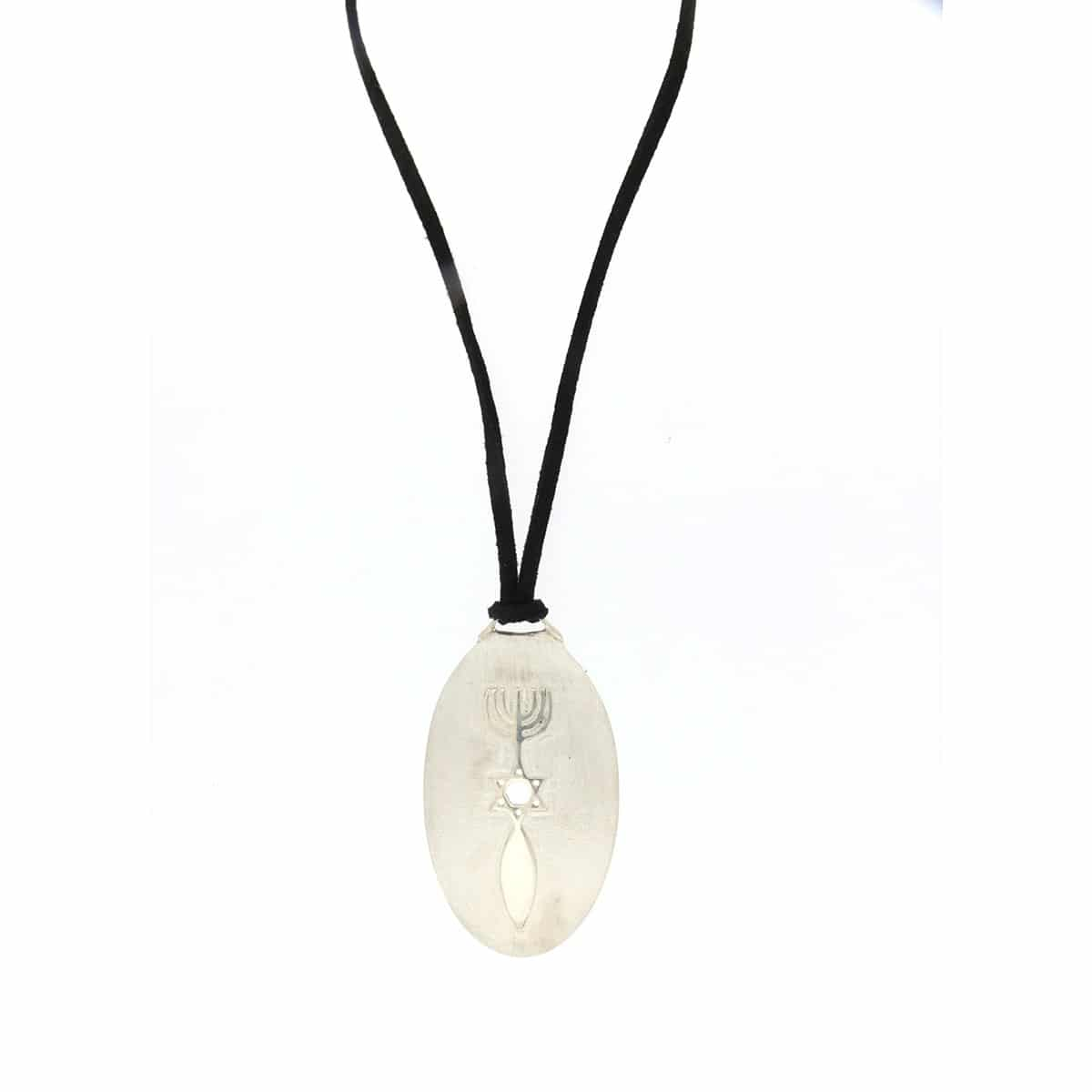 Sterling silver pendant on a suede cord