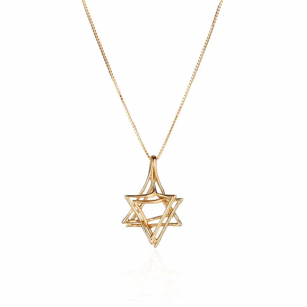 Star of David Gold Silver Necklace