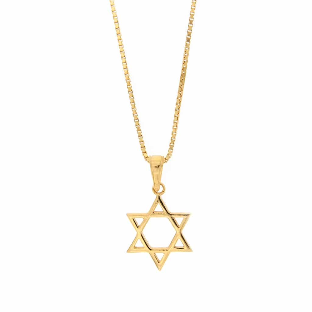Star of David Gold Plated Silver Necklace