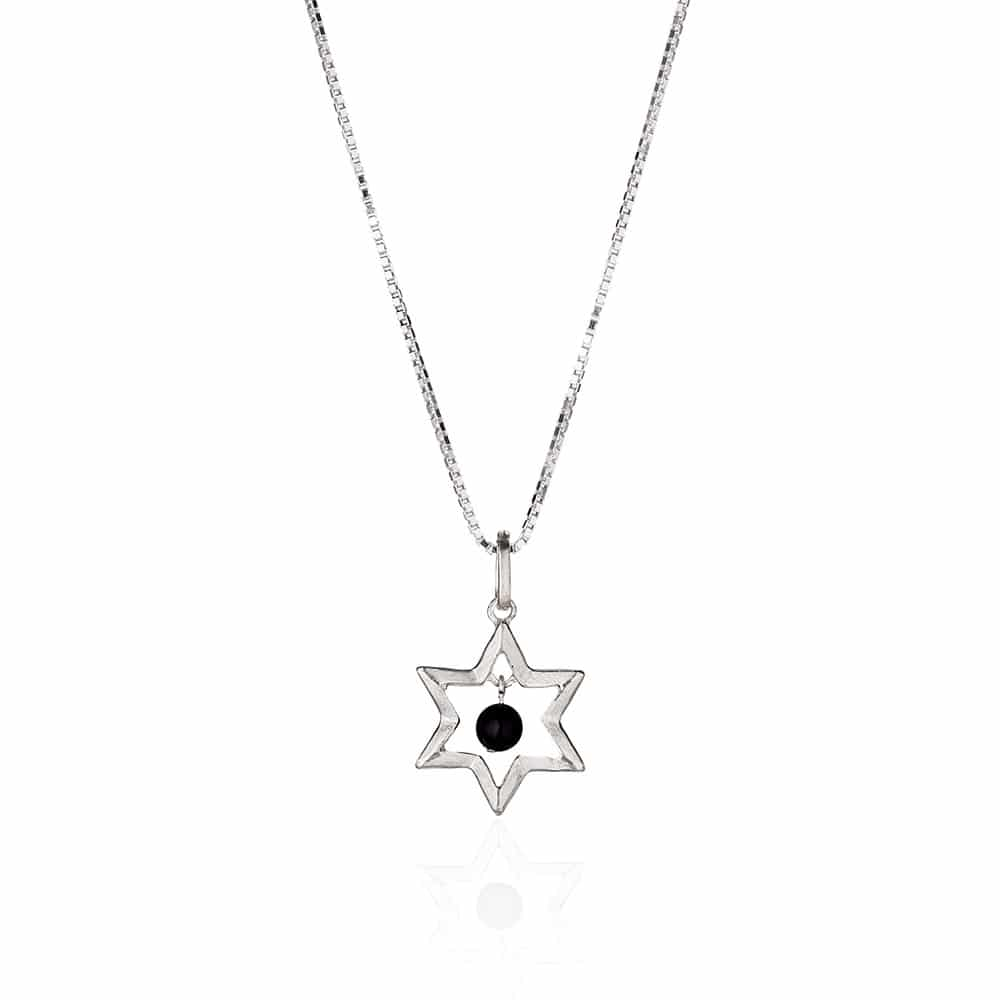 Star Of David & Onyx Necklace