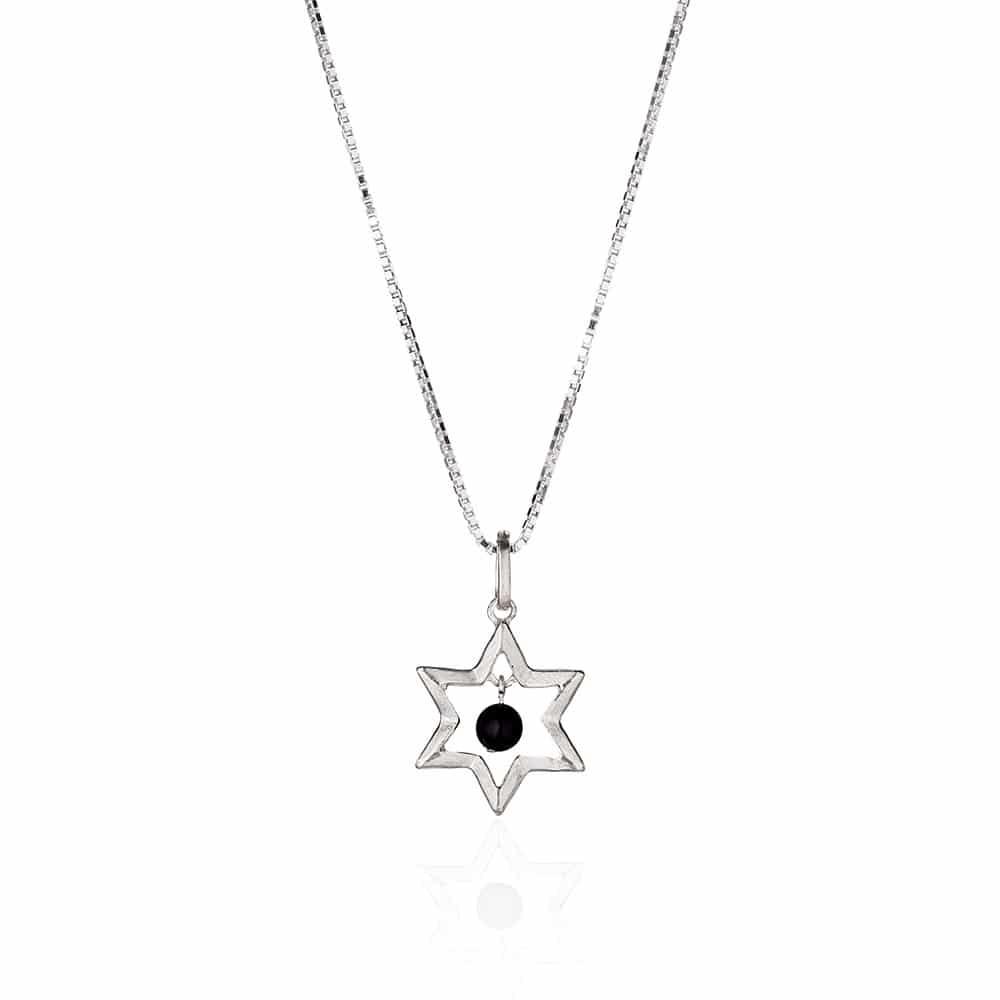 Star Of David & Onyx Necklace