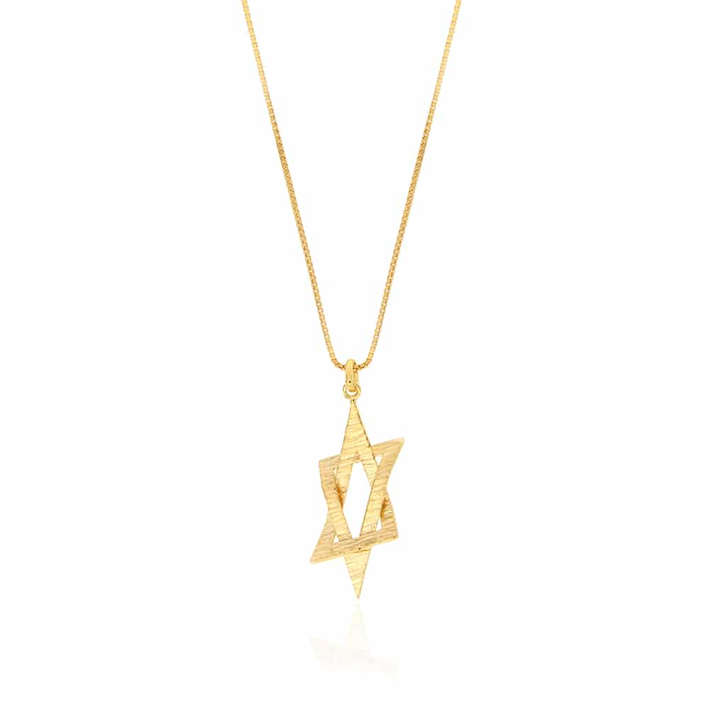 Gold Plated Silver Star Of David Necklace
