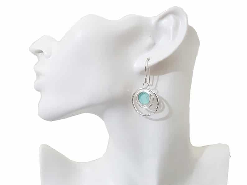 Beautiful 925 Sterling Silver Roman Glass Hand Made Set Pendant roman glass earrings
