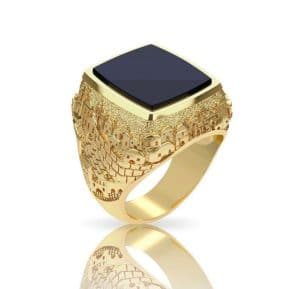 14k Gold 3D Jerusalem Ring - Ring for Men