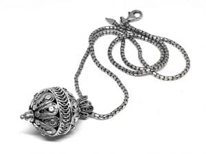 925 Silver Yemenite Necklace - Pomegranate design