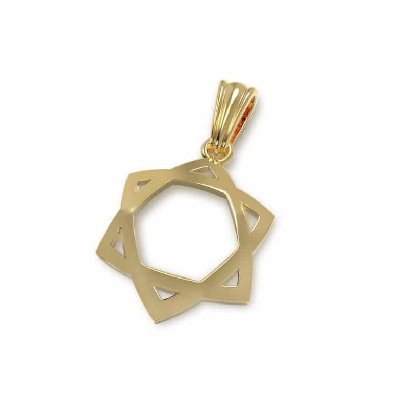Colgante Estrella de David Oro 14k