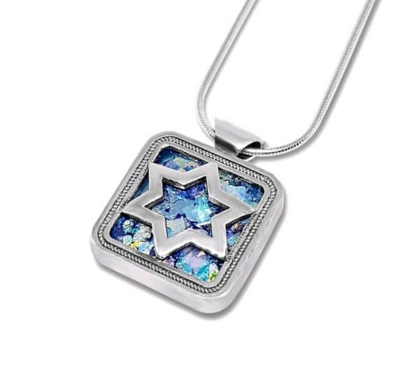 Silver Star of David Necklace