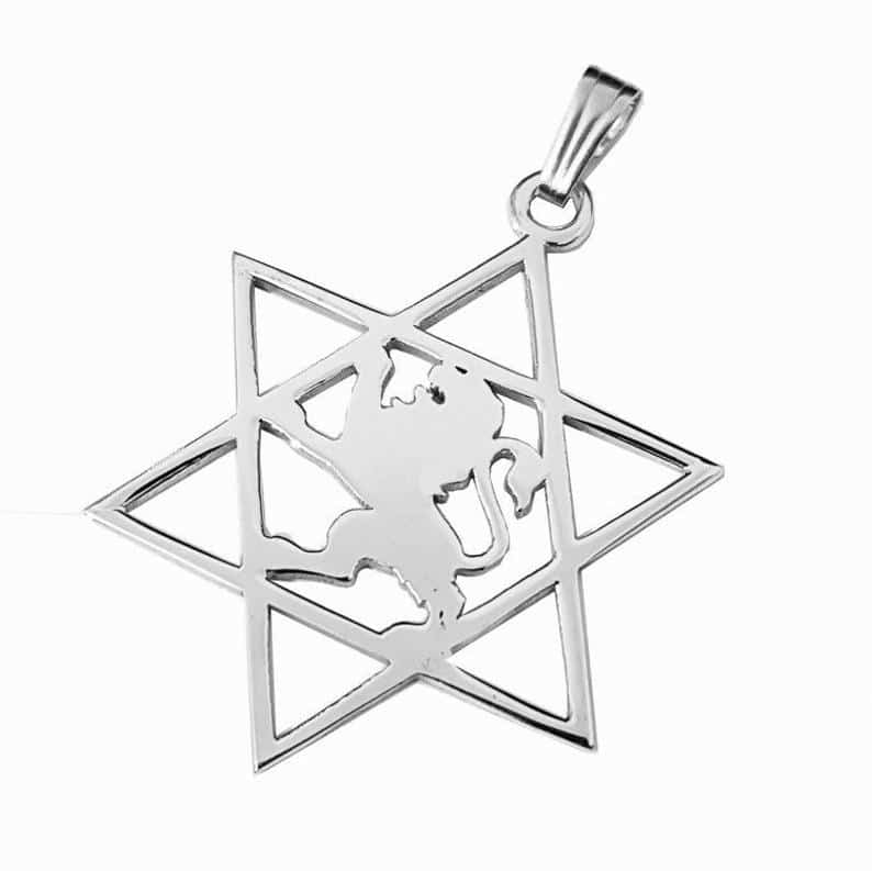 Lion of Judah Pendant - Star of David Pendant
