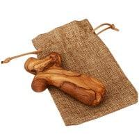 100% handmade Olive Wood Comfort Cross