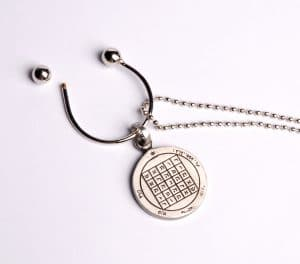 King Solomon's Key Holder Chain pewter - Wealth
