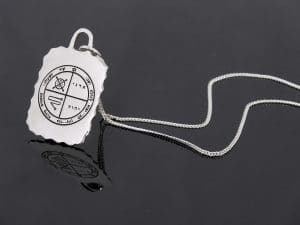 Silver King Solomon's Seal Necklace - Against Evil Eye