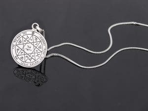 Silver King Solomon Seal Necklace - Guarding & Protection