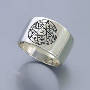 King Solomon Seals Rings silver -  Guarding