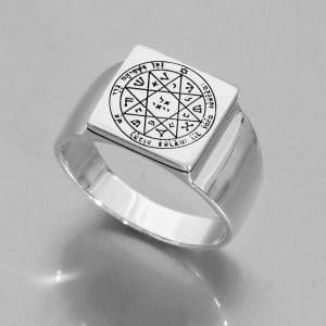 Silver Seal of Solomon Ring -  Guarding