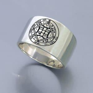 Silver King SolomonSeals Ring  - Love