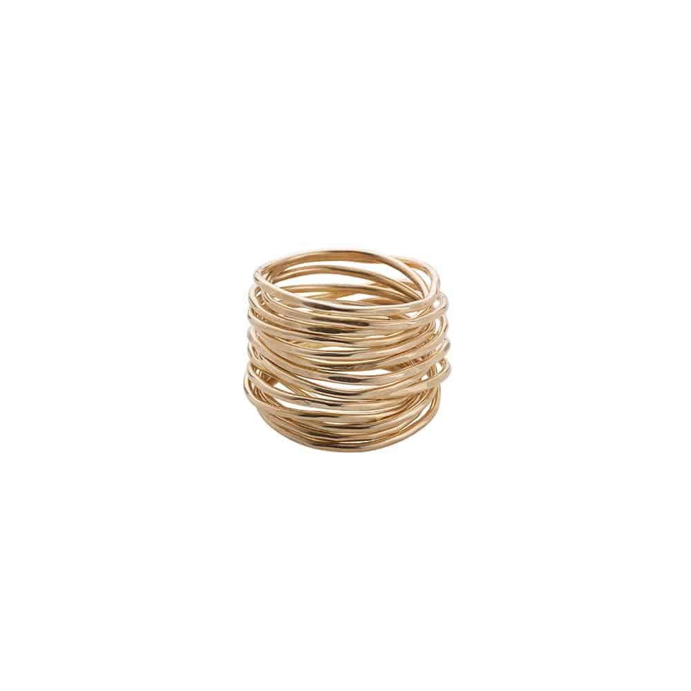 Gold Filled Wrap Ring - Beaten