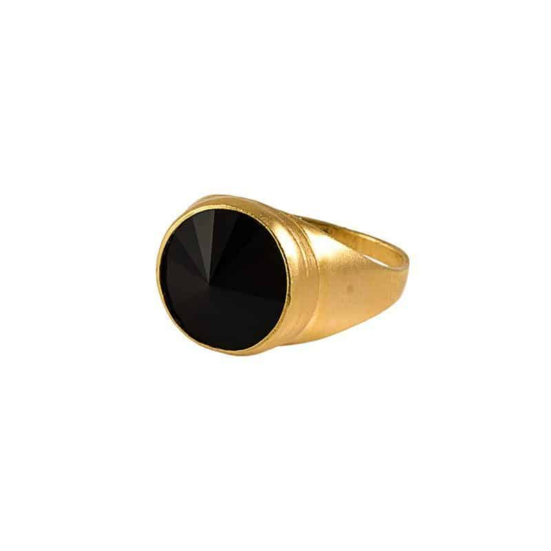 Light Gold Ring - Black