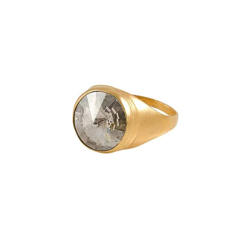 Light Gold Ring - Grey
