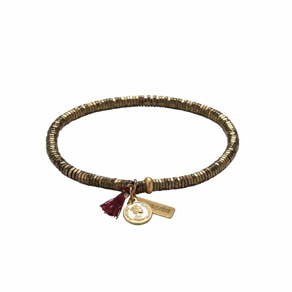 Gold coin viki bracelet - Gold