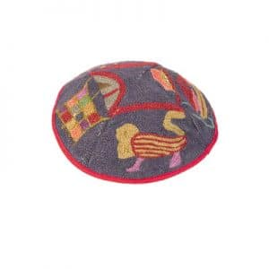Hand Embroidered Hat - Lions